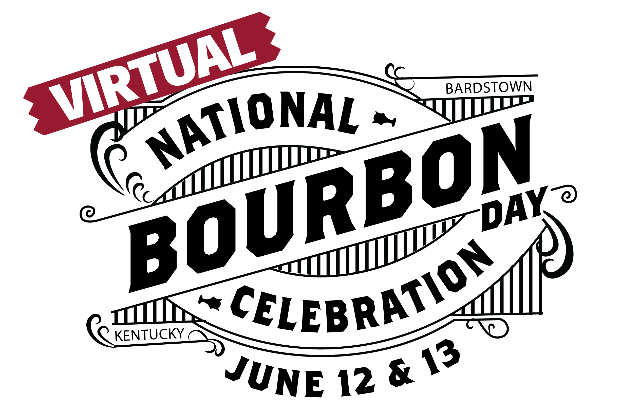 Virtual National Bourbon Day Logo Black